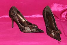 i- candy cream satin&black lace high heels stiletto shoes size 4