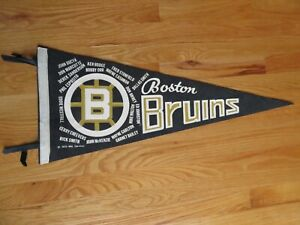 Rare 1970 Stanley Cup BOSTON BRUINS Champions Pennant BOBBY ORR PHIL ESPOSITO