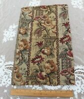 """Antique c1920-1930 French Cotton Jacquard Tapestry Sample Fabric~L-20""""X W-12"""""""