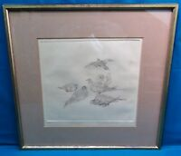 """Augusta Feld, """"Sand Pipers"""", Artist's Proof, Hand Signed, Framed & Matted-1940's"""