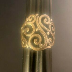 Vintage JAMES AVERY Open Scroll Work STERLING SILVER RING Size 7.5