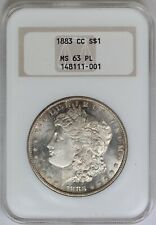 1883-CC NGC Silver Morgan Dollar MS63PL Frosty Proof Like Old Fatty Slab