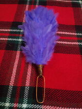 T C PIUME PLUME Glengarry cappello viola colore/Balmoral Cappelli PIUMA pettine