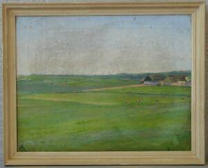 Axel Götze (19./20.Jh.) » Kühe in weiter Landschaft  « ~1900