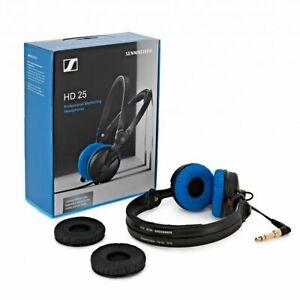 Sennheiser HD25 Blue Limited Edition Headphones Split Headband +Extra Black Pad