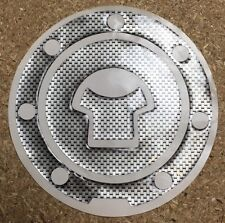 1x Motocicleta aceite combustible Tanque de Cap De Fibra De Carbono Look Protector Decal Sticker Pad
