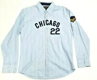 Rare Red X Jacket PikWakWad Chicago Cubs #22 Button Down Men's Shirt Size Large