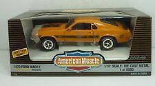 Ertl 1970 Ford Mach 1 Twister Special Orange 1 of 6500 1:18 Scale Diecast in Box