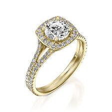 14K Solid Yellow Gold 1.80 Carat Round Diamond Engagement Rings Size J K L M N O