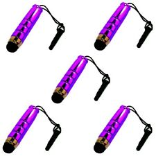 5 x mini entrada lápiz Touch lápiz táctil para Smartphone Tablet celular PDA lila