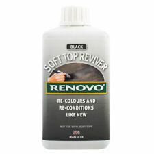 """RENOVO,FABRIC,SOFT TOP,REVIVER 500ml """"BLACK"""" + Free Pair Latex Gloves OFFER!"""