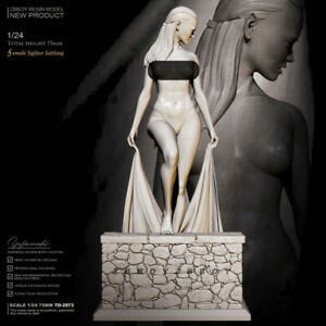 75 mm resin figures model kit 1/24 Bathing saint girl Unpainted Unassembled