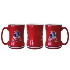 New England Patriots Coffee Mug Relief Sculpted Team Color Logo  14 oz Retro