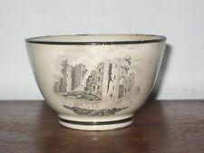 REGENCY ENGLISH tea bowl bat print castles