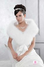 Brautstola Cape zur Hochzeit exklusiv Marabu Federn Emmerling hochwertig weiß