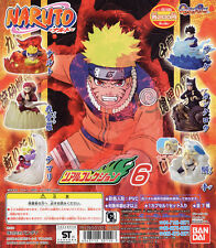 Bandai Naruto Real Collection 6 Gashapon Figure Full set of 6pcs