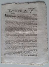 TORINO 1799 GOVERNO PROVVISORIO PIEMONTE documento BANCO PATRIOTICO-4 pagin-K613
