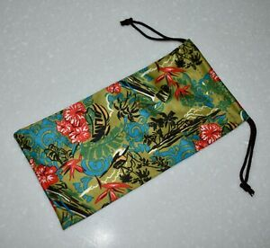 MAUI JIM Tropical MICROFIBER POUCH Cleaning Cloth Storage Bag for Sunglasses
