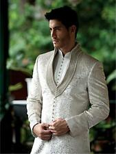 Men's Grooms Wedding Sherwani Suit Indian Traditional Achkan Pajama Grooms Dress