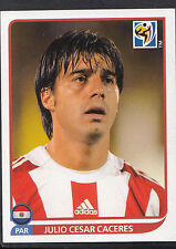 Panini Football Sticker- 2010 World Cup -No 435 - Paraguay - Julio Cesar Caceres
