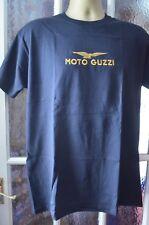 MOTO GUZZI BLACK  T/SHIRT  FRUIT OF THE LOOM HEAVEY  EMBROIDERED in uk