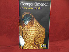 Georges Simenon Le Mauvaise etoile (Gallimard) PB 1990s IN FRENCH