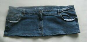 """8"""" Length  Blue  Denim  Micro Mini Skirt UK Plus Size 22"""