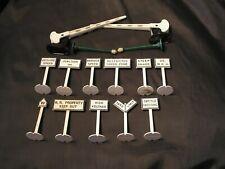Vintage MARX RR Signs/Accessories (15)