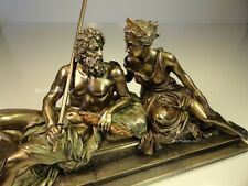 King Zeus God Of Thunder & Hera Greek Mythology Sculpture Statue Bronze Finish