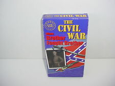 The Civil War When Brother Fought Brother VHS Video Tape Movie
