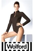 WOLFORD ~ New BROWN String Body Shirt `LYON` long sleeve ~ size: 38 ; 40