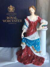BNIB RARE BEAUTIFUL ROYAL WORCESTER QUEEN ANNE Figurine Ltd Ed 4500
