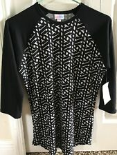 NWT - LuLaRoe XS Randy - Black sleeves with Black and White body - New!