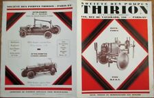 Firefighting 1920s French 'Thirion' Fire Truck/Engine/Pump Brochure - Fireman