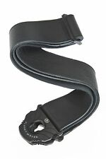 Planet Waves Planet Lock Guitar Strap, Black Leather 50PLL00