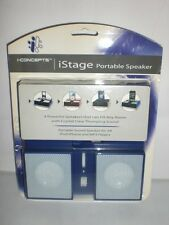 iCONCEPTS iSTAGE PURPLE PORTABLE SPEAKER iPOD iPHONE MP3 PLAYERS