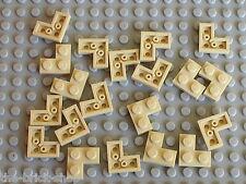 20 LEGO tan corner plate ref 2420 / set 10189 21005 10185 7194 4766 101187 5378