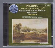 BRAHMS CD NEW CONCERTO 2 VARIATIONS EMIL GILELS