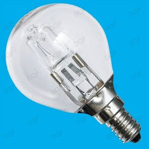 4x 42W (=60W) WATT CLEAR DIMMABLE HALOGEN GOLF ENERGY SAVING LIGHT BULBS SES E14