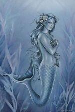 "Jessica Galbreth Print 5x7"" Fairy Faery The Key blue mermaid skeleton ocean blue"