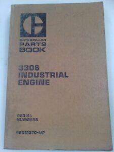 Caterpillar 3306 industrial engine parts manual. Genuine Cat book.
