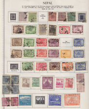 NEPAL EXCELLENT COLLECTION ON ALBUM PAGES - W892