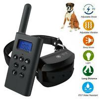 Collar de Adiestramiento para Perros con Bateria Estimulacion Vibracion LED