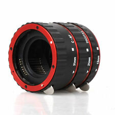 Metal Mount Auto Focus AF Macro Extension Tube/Ring for  CANON  Red  EF-S Lens