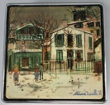 New listing Set of 6 Coasters Made in France Artist Maurice Utrillo 4x4 In Original Case