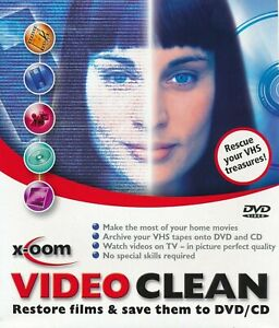 Video Clean - Restore Films and Save to CD DVD Software PC CD-ROM Disc in Sleeve