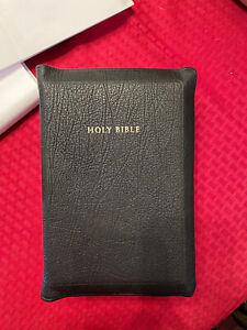 Allan 53 Longprimer KJV Bible Black Highland Goatskin BRAND NEW
