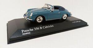 MINICHAMPS 1/43 Porsche 356 B Cabriolet 1960 Bleu 1 Des 2304 Pcs. 400064330