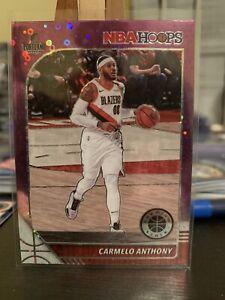 2019-20 Carmelo Anthony NBA Hoops Premium Stock Purple Disco Prizm 🔥🔥
