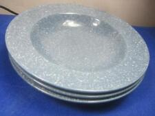 "3 Mikasa Ultrastone Country Blue 9 3/8"" Soup-Salad Bowls"